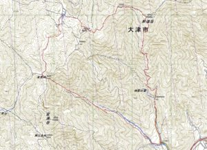 釈迦岳の地図